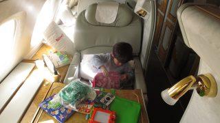 マイレージでエミレーツ航空ファーストクラス 息子3歳